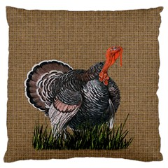 Thanksgiving Turkey Large Flano Cushion Case (two Sides) by Valentinaart