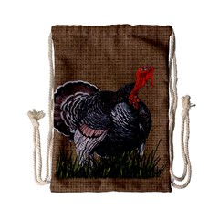 Thanksgiving Turkey Drawstring Bag (small) by Valentinaart