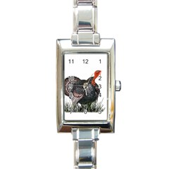 Thanksgiving Turkey Rectangle Italian Charm Watch by Valentinaart