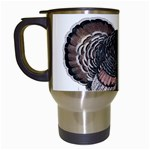 Thanksgiving Turkey Travel Mugs (White) Left