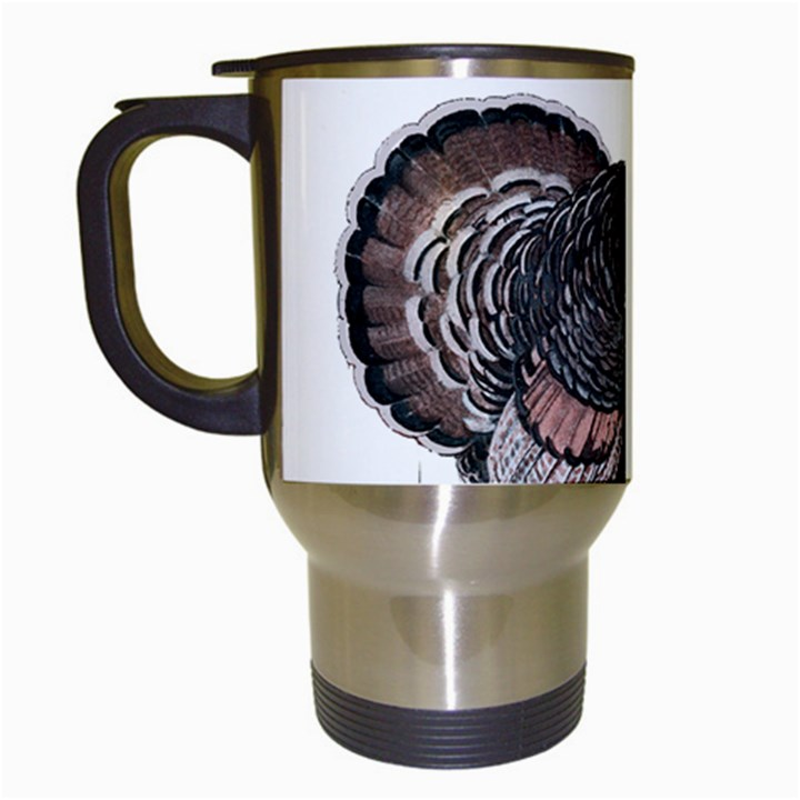 Thanksgiving Turkey Travel Mugs (White)