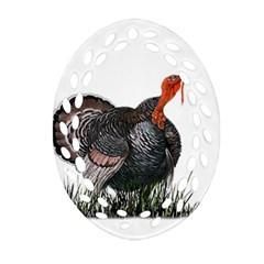 Thanksgiving Turkey Ornament (oval Filigree) by Valentinaart