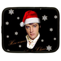 Elvis Presley   Christmas Netbook Case (xl)  by Valentinaart
