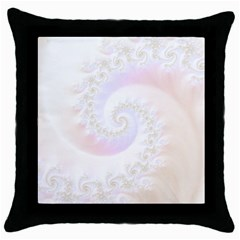 Mother Of Pearls Luxurious Fractal Spiral Necklace Throw Pillow Case (black) by jayaprime