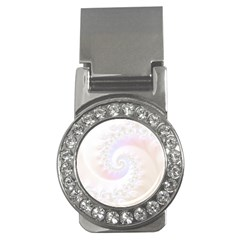 Mother Of Pearls Luxurious Fractal Spiral Necklace Money Clips (cz)  by jayaprime