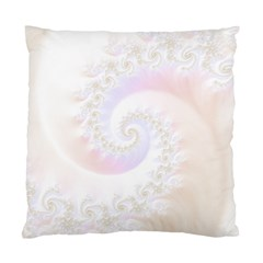 Mother Of Pearls Luxurious Fractal Spiral Necklace Standard Cushion Case (one Side) by beautifulfractals