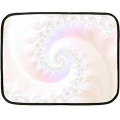 Mother Of Pearls Luxurious Fractal Spiral Necklace Fleece Blanket (mini) by beautifulfractals
