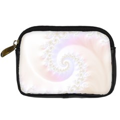 Mother Of Pearls Luxurious Fractal Spiral Necklace Digital Camera Cases by jayaprime