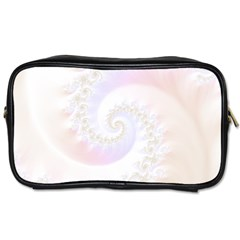 Mother Of Pearls Luxurious Fractal Spiral Necklace Toiletries Bags 2 Side by jayaprime