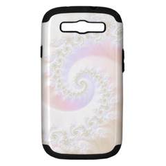 Mother Of Pearls Luxurious Fractal Spiral Necklace Samsung Galaxy S Iii Hardshell Case (pc+silicone) by beautifulfractals