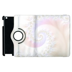 Mother Of Pearls Luxurious Fractal Spiral Necklace Apple Ipad 3/4 Flip 360 Case by beautifulfractals