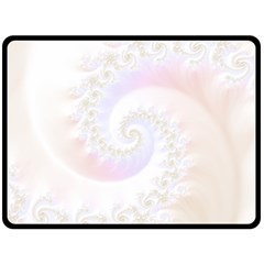 Mother Of Pearls Luxurious Fractal Spiral Necklace Double Sided Fleece Blanket (large)  by beautifulfractals