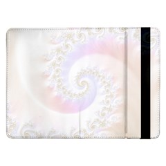 Mother Of Pearls Luxurious Fractal Spiral Necklace Samsung Galaxy Tab Pro 12 2  Flip Case by jayaprime