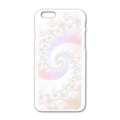 Mother Of Pearls Luxurious Fractal Spiral Necklace Apple Iphone 6/6s White Enamel Case by jayaprime