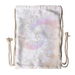 Mother Of Pearls Luxurious Fractal Spiral Necklace Drawstring Bag (large) by jayaprime