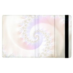 Mother Of Pearls Luxurious Fractal Spiral Necklace Apple Ipad Pro 9 7   Flip Case by beautifulfractals