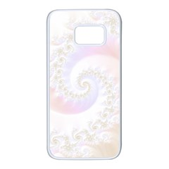 Mother Of Pearls Luxurious Fractal Spiral Necklace Samsung Galaxy S7 White Seamless Case by jayaprime