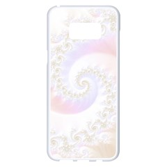 Mother Of Pearls Luxurious Fractal Spiral Necklace Samsung Galaxy S8 Plus White Seamless Case by jayaprime