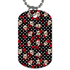 Skulls And Roses Dog Tag (one Side) by Valentinaart
