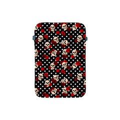 Skulls And Roses Apple Ipad Mini Protective Soft Cases by Valentinaart