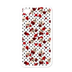 Skulls And Roses Apple Iphone 4 Case (white) by Valentinaart