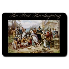 The First Thanksgiving Large Doormat  by Valentinaart