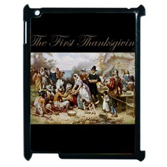 The First Thanksgiving Apple Ipad 2 Case (black) by Valentinaart