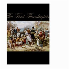 The First Thanksgiving Large Garden Flag (two Sides) by Valentinaart