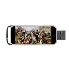 The First Thanksgiving Portable Usb Flash (one Side) by Valentinaart