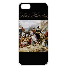 The First Thanksgiving Apple Iphone 5 Seamless Case (white) by Valentinaart