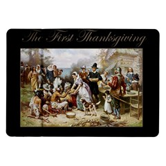 The First Thanksgiving Samsung Galaxy Tab 10 1  P7500 Flip Case by Valentinaart