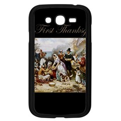 The First Thanksgiving Samsung Galaxy Grand Duos I9082 Case (black) by Valentinaart