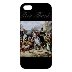 The First Thanksgiving Iphone 5s/ Se Premium Hardshell Case by Valentinaart