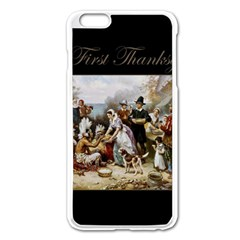 The First Thanksgiving Apple Iphone 6 Plus/6s Plus Enamel White Case by Valentinaart