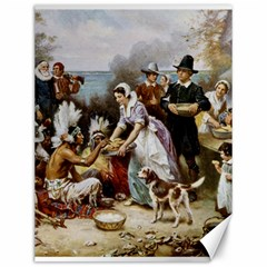The First Thanksgiving Canvas 12  X 16   by Valentinaart