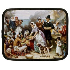 The First Thanksgiving Netbook Case (xxl)  by Valentinaart