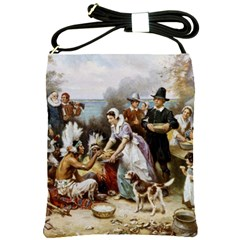 The First Thanksgiving Shoulder Sling Bags by Valentinaart