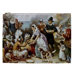 The First Thanksgiving Cosmetic Bag (xxl)  by Valentinaart