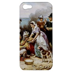 The First Thanksgiving Apple Iphone 5 Hardshell Case by Valentinaart