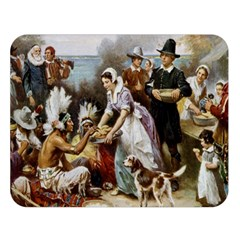 The First Thanksgiving Double Sided Flano Blanket (large)  by Valentinaart
