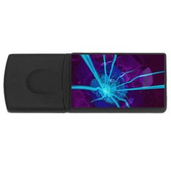 Beautiful Bioluminescent Sea Anemone Fractalflower Rectangular Usb Flash Drive by jayaprime