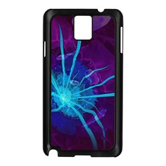 Beautiful Bioluminescent Sea Anemone Fractalflower Samsung Galaxy Note 3 N9005 Case (black) by jayaprime