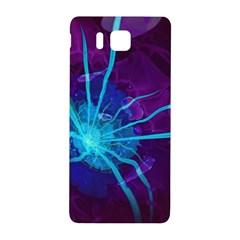 Beautiful Bioluminescent Sea Anemone Fractalflower Samsung Galaxy Alpha Hardshell Back Case by jayaprime