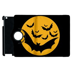 Bats Moon Night Halloween Black Apple Ipad 2 Flip 360 Case by Alisyart