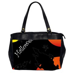 Castil Witch Hlloween Sinister Night Home Bats Office Handbags (2 Sides)  by Alisyart