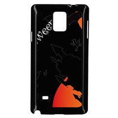 Castil Witch Hlloween Sinister Night Home Bats Samsung Galaxy Note 4 Case (black) by Alisyart