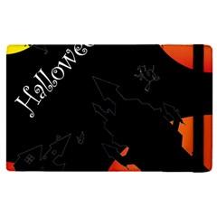 Castil Witch Hlloween Sinister Night Home Bats Apple Ipad Pro 12 9   Flip Case by Alisyart