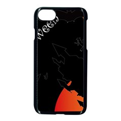 Castil Witch Hlloween Sinister Night Home Bats Apple Iphone 7 Seamless Case (black) by Alisyart