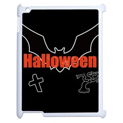 Halloween Bat Black Night Sinister Ghost Apple Ipad 2 Case (white) by Alisyart