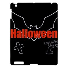 Halloween Bat Black Night Sinister Ghost Apple Ipad 3/4 Hardshell Case by Alisyart